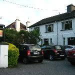 Front of the B&B and car park