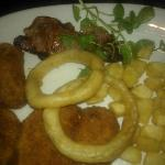 Chicken Maryland with Garlic Fries & French Fried Onions