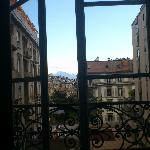  View was very Parisian, but with mountains in the distance