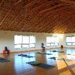 Beautiful yoga studio.