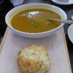 Large Curry Squash Bisque with tea biscuit