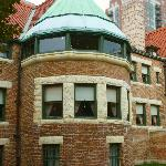 The Bowed Windows of the Dining Room on 1st Floor and the Conservatory above.  Glessner House