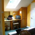 Room #8 - room door on left, bathroom door on right