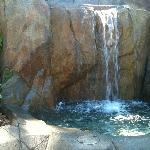 Waterfall pond at Spa