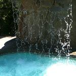  Spa outdoor hot tub with waterfall