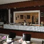 The restaurant bar