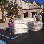mattress being delivered funny seeing the parking lot full