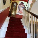  wonderfully antique stairs and hallway leading to the rooms upstairs