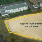  1.5 Acres of Truck Parking with electrical outlets for block heaters