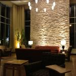The lounge area at Cambria Suites