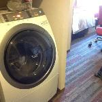 Room with washing machine