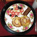 That is stuffed French toast!