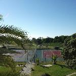  the view of the tennis court