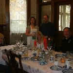 breakfast was magnificent! Cretia and Rick stand with next to our friends.