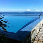  View from Bar across Infinity Pool