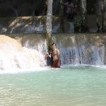  After the trek, you chill out at the waterfalls