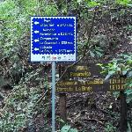  Sign with distances and altitudes