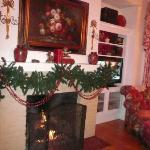 Rose Room Fireplace - nice and warm and cozy