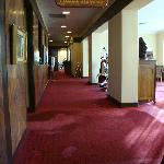 Inside the motel lobby area