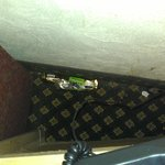 Twix wrapper behind couch/nightstand.