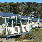Hillside self contained Cabins with outstanding ocean views