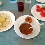 Breakfast included. Sambar, eggs to order, and fresh fruit
