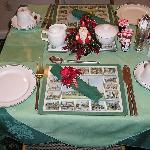 Breakfast room during christmas season