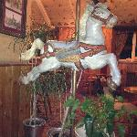 Freaky/Awesome horse in bar