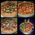 Collage of pizzas