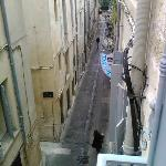 View from our Balcony. Rue de J J Rousseau