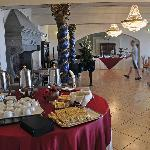 The breakfast buffet room