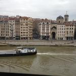 from 4th floor window of Saone and boat