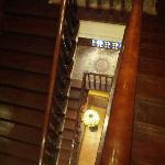 The stairs, from 3rd floor