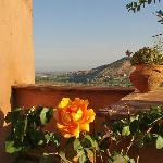 Another view from the terrace at kasbah Omar