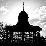 Sun behind the bandstand