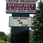 Acra Manor Sign