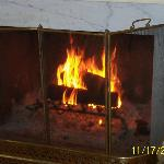 Common area fireplace