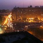 Tahrir Square from Sun Hotel lobby