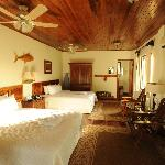 Deluxe Rooms built with local hardwoods, AC, Optional Jacuzzi