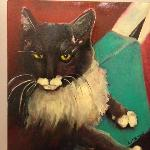 One of Lynn's paintings that she did of her friend's cat!
