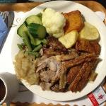 Home Baked Pork Dinner- Tasted Bewdiful Especially The Crackling