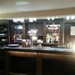 new bar in the refurbished dining room