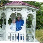  The gazebo out front.
