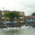 view of hotel from jetty