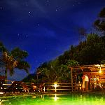 Jungle Bay pool by night