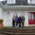right to left, Roy,Linda (me),Tina,Jim in front of Insiara B&B