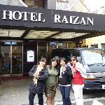 In front of the hotel