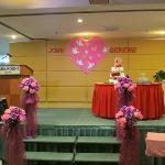 The stage prepared for the Wedding