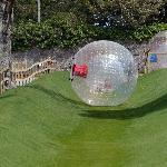 Hydro zorbing down Ireland's only custom built track