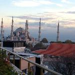 View of the Blue Mosque from the terrace